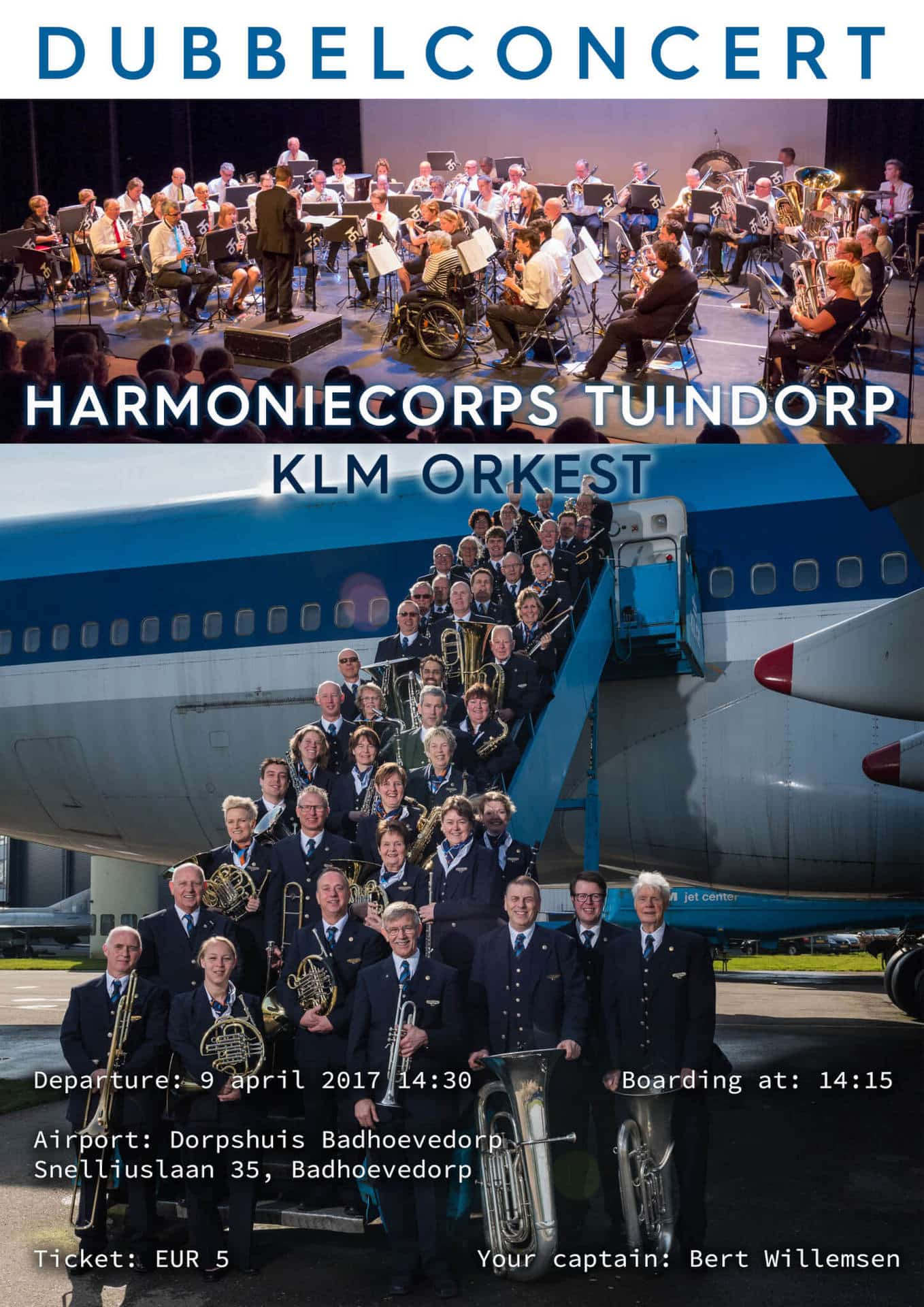 Dubbelconcert KLM en HCT